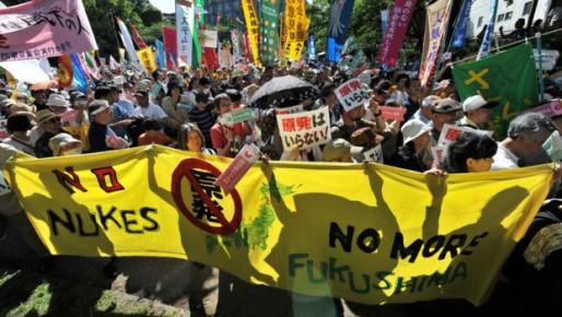 japonais contre le nucléaire
