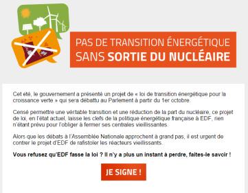 pétition sortir du nucléaire