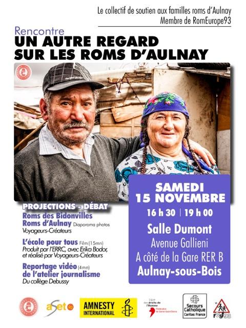 Ne ratez pas la rencontre «Un autre regard sur les Roms d'Aulnay – Le 15novembre