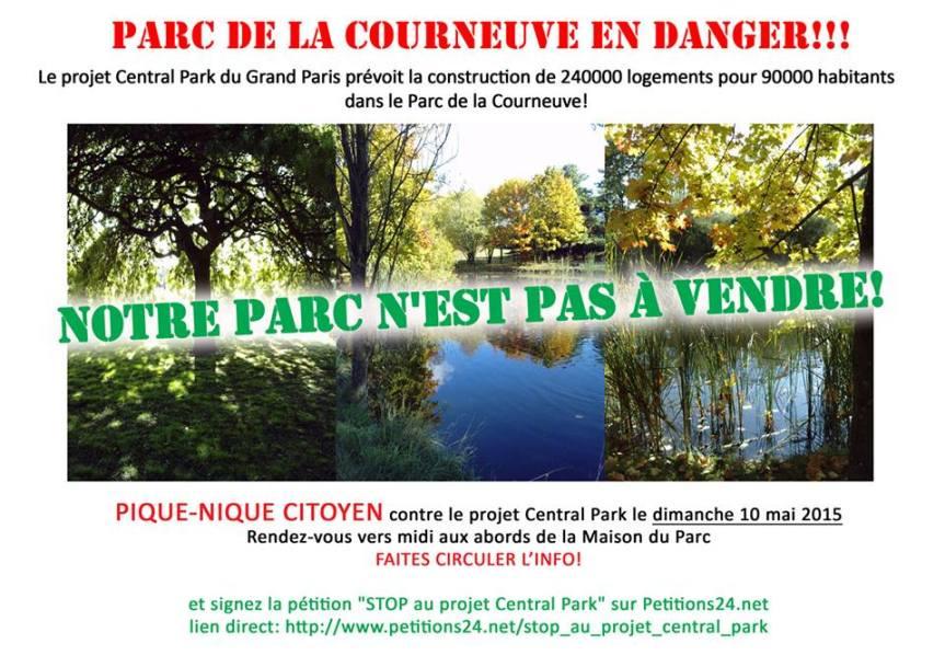 La mobilisation contre le Central Park de la Courneuve prend forme  – RDV le 10mai