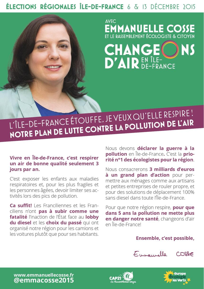 Elections régionales // Changeons d'air en Île-de-France