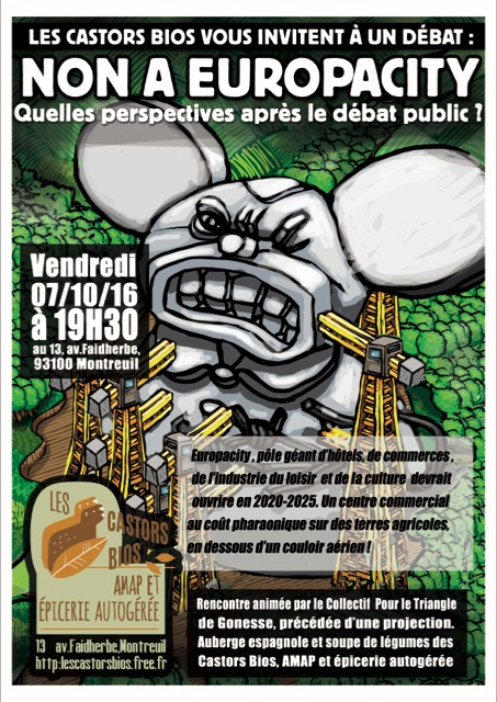 Europa City : «Quelles perspectives après le débat public?»