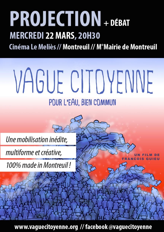 «Vague citoyenne pour l'eau, bien commun» / Projection – débat / Le Mélies / 22mars